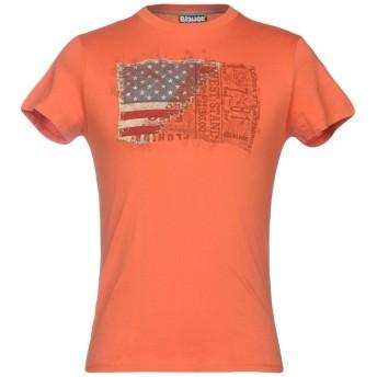 《セール開催中》BLAUER メンズ T シャツ オレンジ XS コットン 100%