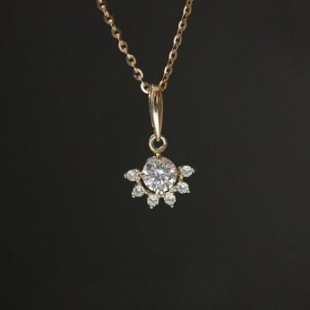 K9金ジルコニア石ペンダント ネックレス Pendant Necklace