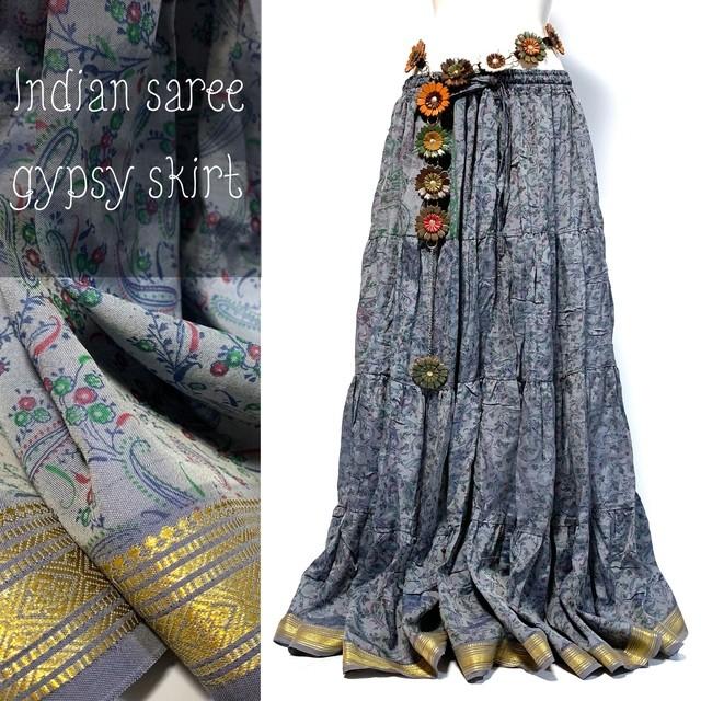 インドサリー ジプシー スカート 14 ◇ 10ヤード シルクサリー