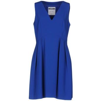 《セール開催中》MOSCHINO レディース ミニワンピース&ドレス ブルー 40 64% トリアセテート 36% ポリエステル