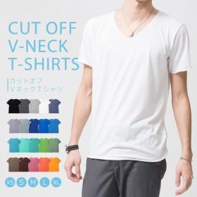 Tシャツ メンズ Vネック 半袖 無地 カットソー インナー おしゃれ 綿100% 速乾 吸汗 吸水 かっこいい 春 夏 黒 白