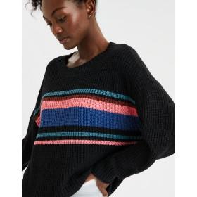 【アメリカンイーグル】AEオーバーサイズストライプクルーネックセーター