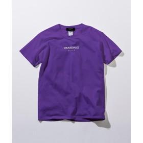 シフォン 1PIU1UGUALE3 RELAX(ウノピゥウノウグァーレトレ) フロントロゴプリントTシャツ メンズ パープル S 【SHIFFON】