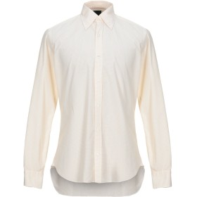 《セール開催中》DANDYLIFE by BARBA メンズ シャツ ライトイエロー 40 コットン 100%