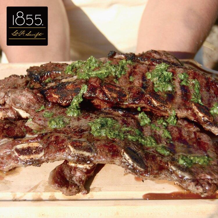 【599免運】美國1855黑安格斯熟成帶骨牛小排1片組(150公克/1片)