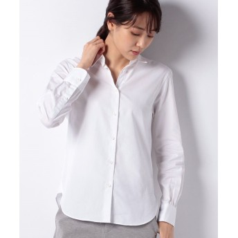 【50%OFF】 アルアバイル ブロードシャツ レディース ホワイト 02 【allureville】 【セール開催中】