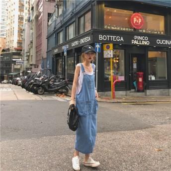 【送料無料】 春までOK! 韓国ファッション 気質 2019 デニム キャミソール ワンピ 大人気 春夏 新作