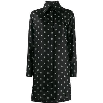Fendi FFロゴ シャツドレス - ブラック