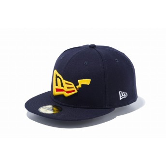 NEW ERA ニューエラ 59FIFTY ポケモン ピカチュウ フラッグロゴ ネイビー ベースボールキャップ キャップ 帽子 メンズ レディース 8 (63.5cm) 12110813 NEWERA