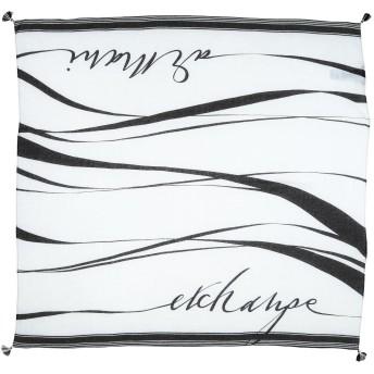 《9/20まで! 限定セール開催中》ARMANI EXCHANGE レディース スカーフ ホワイト テンセル 70% / 麻 30%