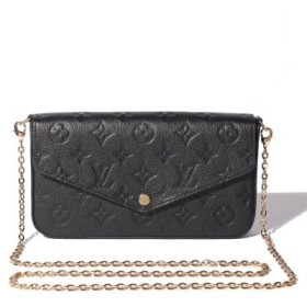 (IMPORT SELECTION/インポートセレクション)【LOUIS VUITTON】MONOGRAM EMPREINTE POCHETTE FELICIE GM/ユニセックス NOIR