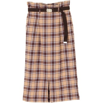 【6,000円(税込)以上のお買物で全国送料無料。】ガチャベルト付きナロースカート