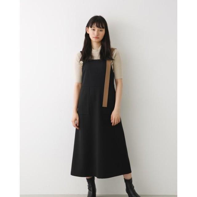 アヴァンリリィ バイカラージャンパースカート レディース BLK FREE 【AVAN LILY】
