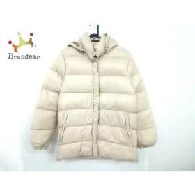 モンクレール ダウンジャケット サイズ0 XS レディース 美品 - ベージュ 冬物/フード取り外し可  値下げ 20191022