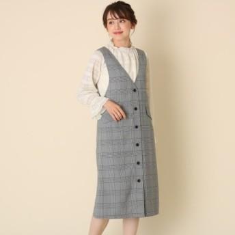 [マルイ]【セール】レーヨン混ボタンジャンスカ/クチュールブローチ(Couture Brooch)