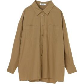 【6,000円(税込)以上のお買物で全国送料無料。】ポケット付きオーバーシャツ