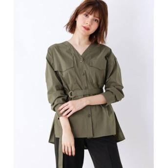 grove / グローブ タイプライターワークチュニックシャツ