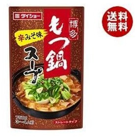 【送料無料】ダイショー 博多もつ鍋スープ 辛みそ味 750g×10本入