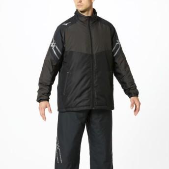 MIZUNO SHOP [ミズノ公式オンラインショップ] ブレスサーモ中綿ジャケット[ユニセックス] 09 ブラック×チャコールグレー×シルバー 32ME9630