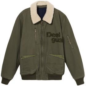 【58%OFF】ロゴアップリケ ボアカラー フライトジャケット モスグリーン l