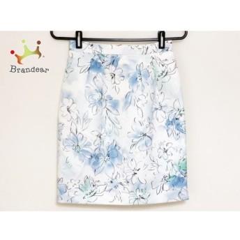 ジャスグリッティー JUSGLITTY スカート サイズ0 XS レディース 白×ネイビー×マルチ 花柄 新着 20190904