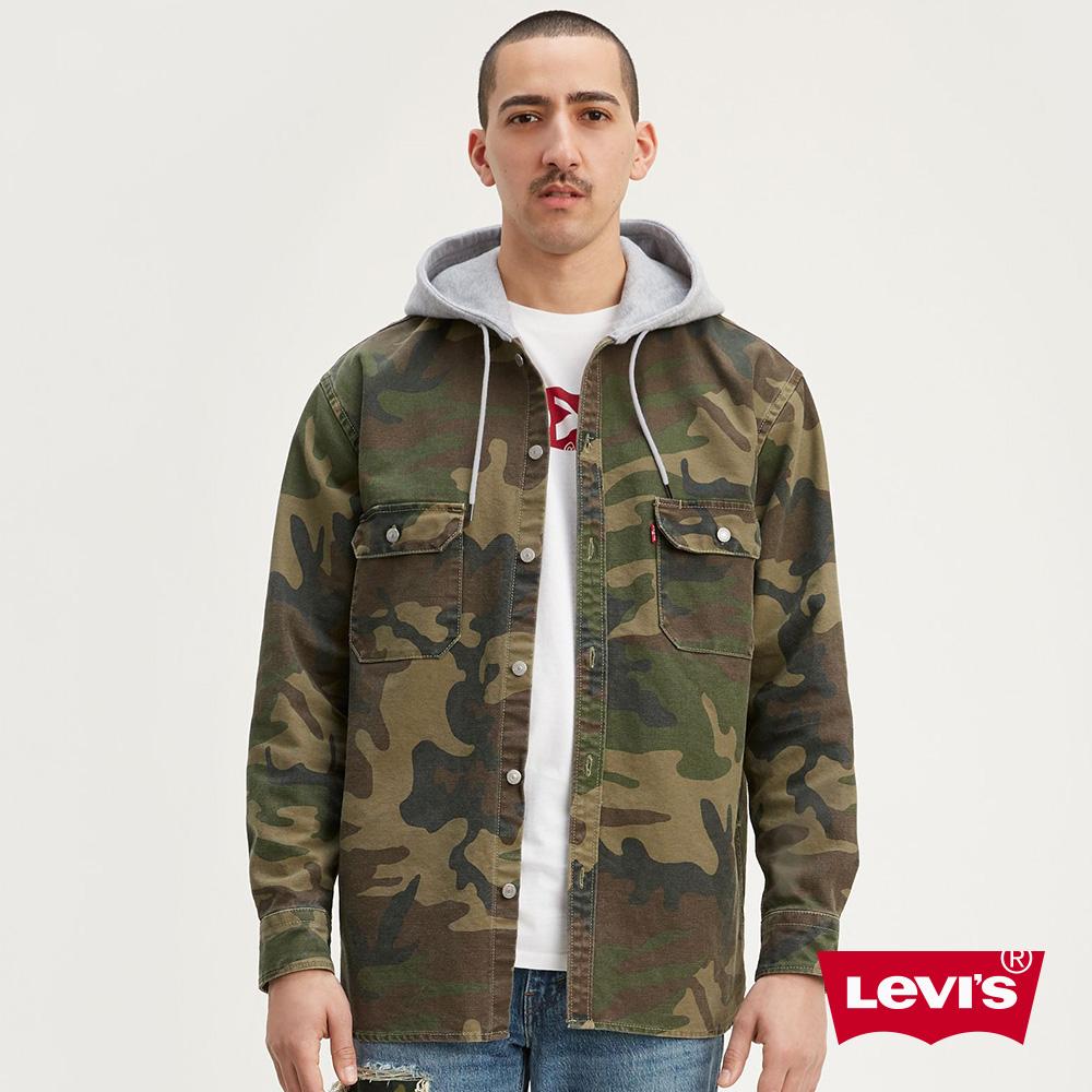 貨號:77385-0001levis 男款 襯衫連帽外套 / 迷彩工裝設計 / oversize寬鬆長版