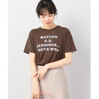 (Plage/プラージュ)MIDNIGHT RIDER WAYLON G.D JENNINGS Tシャツ/レディース ブラウン 送料無料