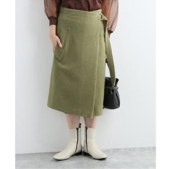 【ジャーナルスタンダード/JOURNAL STANDARD】 【08 SIRCUS/08サーカス】 Wool hard milled wrap skirt:スカート