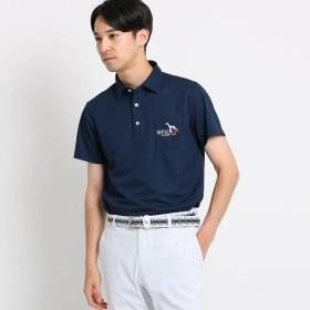 アダバット adabat 【吸水速乾/UVカット】胸ポケット付き半袖ポロシャツ (ネイビー)