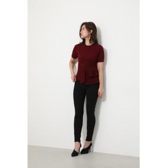 リエンダ Asymmetry Peplum Knit TOP レディース D/RED3 FREE 【rienda】