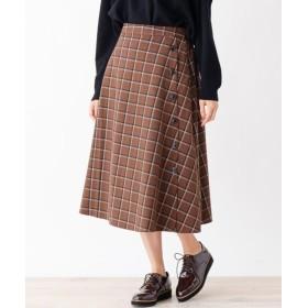DRESKIP ドレスキップ 脇ボタンフレアスカート