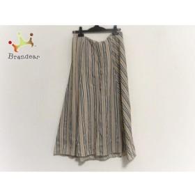 バーバリーロンドン スカート サイズ13 L レディース 美品 ベージュ×黒×レッド 新着 20190904