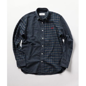 ノーリーズ クジラ刺繍ボタンダウンネルシャツ 19AW メンズ ネイビー系5 M 【NOLLEY'S】