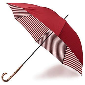 <MACKINTOSH PHILOSOPHY/マッキントッシュ フィロソフィー> 【晴雨兼用】裏ボーダーMP長傘 アカ 【三越・伊勢丹/公式】