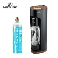 【超值特惠組】MATURE美萃 Luxury440系列氣泡水機-木質黑