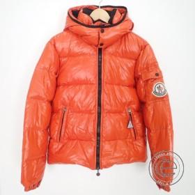 MONCLERモンクレール 44342  HIMALAYAヒマラヤ アームロゴワッペン フード付ダウンジャケット1  オレンジ  メンズ