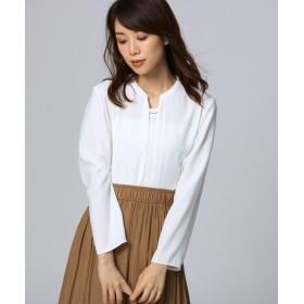 アンタイトル タックプレートジョーゼットシャツ レディース オフホワイト(003) 03(L) 【UNTITLED】