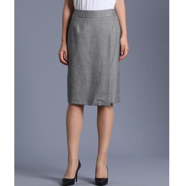 INED / シルクウールストライプラップスカート