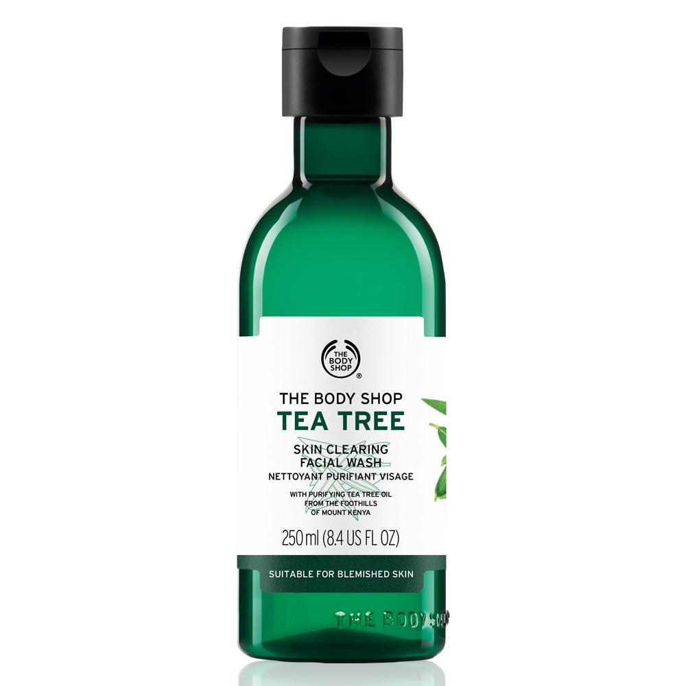 藉含肯亞天然純淨的茶樹精油、檸檬茶樹精油、瓊崖海棠油等天然淨膚成份,泡沫豐富綿密;可深層潔淨臉部肌膚多餘的油脂污垢。另含薄荷腦萃取及維他命B5,能於潔膚同時調理修護、增加肌膚防禦力。洗後倍感清涼舒暢,