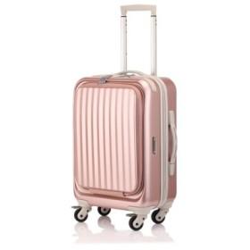 (Bag & Luggage SELECTION/カバンのセレクション)サンコー スーツケース 機内持ち込み 34L フロントオープン 軽量 SUNCO mdlz-47/ユニセックス ピンク 送料無料