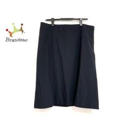 ニジュウサンク 23区 スカート サイズ48 XL レディース 美品 ダークネイビー 新着 20190904
