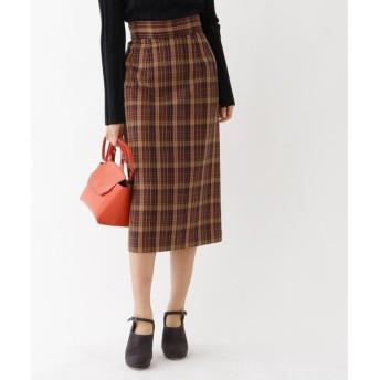aquagirl / アクアガール チェックミモレタイトスカート