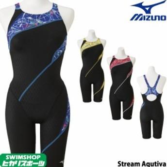 ミズノ MIZUNO 競泳水着 レディース ハーフスーツ(オープン) Stream Aqutiva ストリームフィット2 2019年秋冬モデル N2MG9743