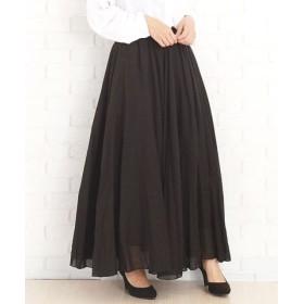 (Amulet/アミュレット)韓国ファッションレディースマキシスカートさらふわボトムス涼しい麻綿混合【vl-5204】【S/S】/レディース ブラック