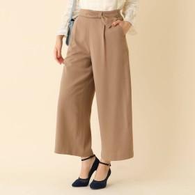 クチュール ブローチ Couture brooch 【WEB限定プライス/手洗い可】リボンベルトワイドパンツ (ダークブラウン)