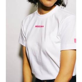 ボンジュールレコード/【Bonjour Girl】Mini Logo T-Shirt/White/ピンク/S