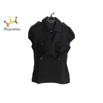 エポカ EPOCA 半袖ポロシャツ レディース 美品 黒 パフスリーブ 新着 20190904
