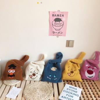 12色入れ!秋新品セール/送料無料大人気ふわふわトートバッグ/軽量ハンドバッグ/可愛バッグ/お洒落なカバン/韓国ファッション鞄/女バッグ