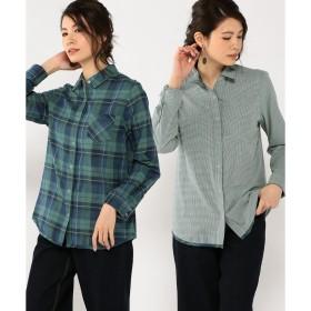 DECOY Since1981 リバーシブルチェックシャツ(ネイビー)【返品不可商品】
