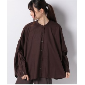 MARcourt 【mizuiro ind】back gathered shirt(BROWN)